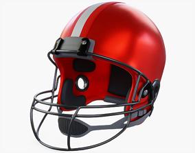 3D asset game-ready American Football Helmet