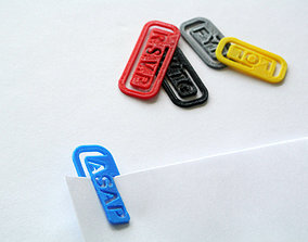 Abbreviation Clip 3D print model