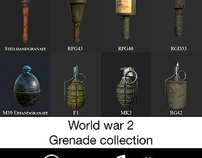 3D model World war 2 Grenade Collection f1