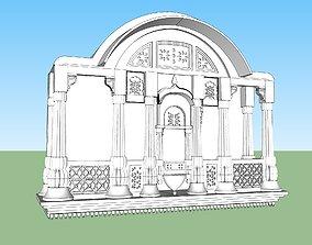 rigged indian stone jharokha 3d modal