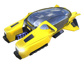 Hover taxi vray 3d model
