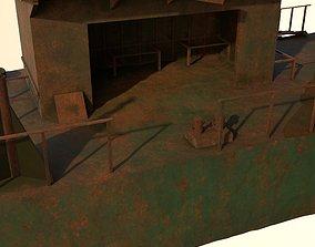 River panton barge 3D model
