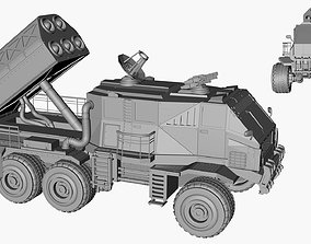 Ballistic Missile Launcher Military Truck 3D model