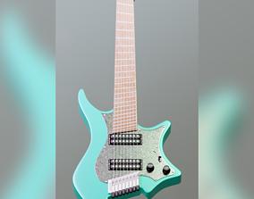 3D Strandberg - boden classic 8 ghost white guitar