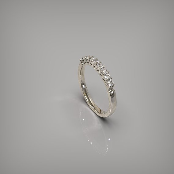Engagement diamond ring 9 stones. Ready for print. . .