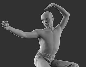 Shaolin monk 3D print model