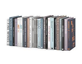 Customizable design books collection 3D