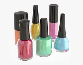 3D Nail polish set of bottles