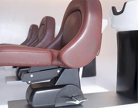 Hair Washpoint - Back Shampoo Unit RUBINO 3D model