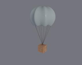 3D model low-poly Supply Drop