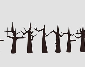 Cartoon Dead Tree 3D model