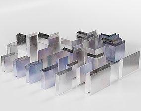 Chevron Interlocking Lead Block Radiation 3D asset