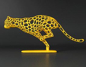 Cheetah Sprinter Wireframe 3D model VR / AR ready