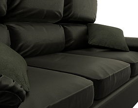 3D model low-poly Game Ready Leather Couch