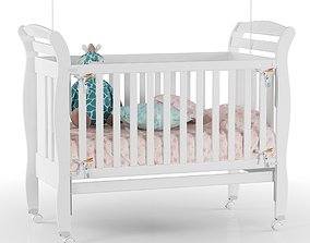 room 3D model Baby Crib