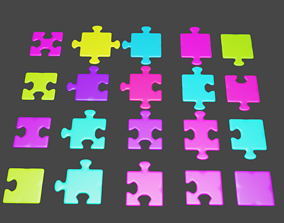 3D model Puzzle Pieces Kit