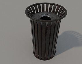 3D asset Old Metal Trashcan