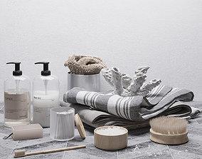 modern Bathroom nature set 3D model