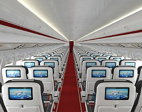 3D Airplane cabin 109 Seats