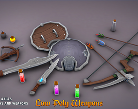 3D asset Low-Poly Weapons
