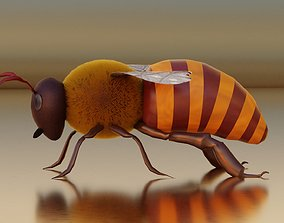 3D model Realistic Honey Bee Rigged for Animation