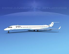 3D model Bombardier CRJ1000 Eurowings