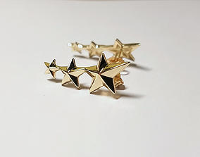 3D printable model star earings