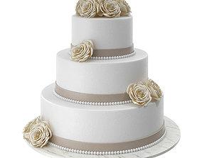 tiers Wedding Cake 3D