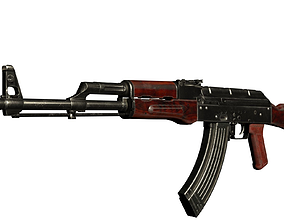 Assault Rifle AKM 3D model