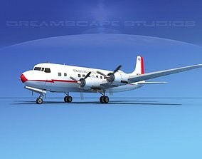Douglas DC-6 New England Shuttle 3D model