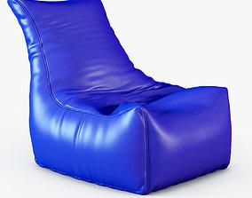 3D model Style Homez Royal Blue Chair Bean Bag