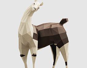 3D model game-ready Llama
