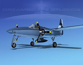 Grumman F7F Tigercat V13 3D model
