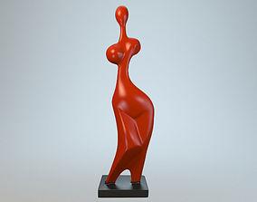 3D model Virgo modernist sculpture