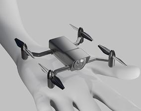 Air recon mini drone 3D model game-ready