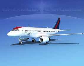 Airbus A319 TACA Airlines 3D
