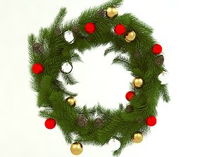 Christmas wreath holiday 3D model