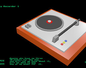 Low poly Recorder 1 3D asset