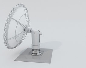 Satellite Dish 3D model game-ready