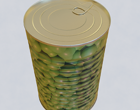 3D canned food warehouse
