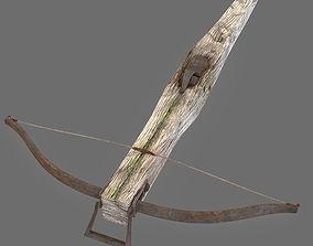 3D asset Old Medieval Crosbow
