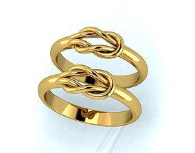 Knot wedding ring 3D print model