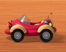 3D asset realtime Car cartoon 02