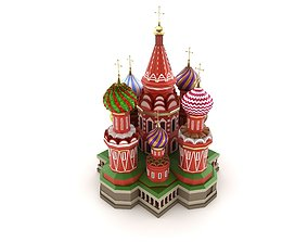 national 3D Moscow Cathedral Russian famous symbol
