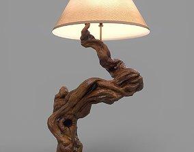 3D model Driftwood Table Lamp