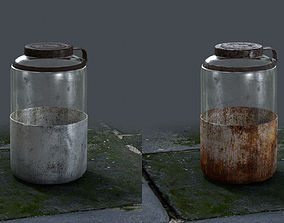 3D asset Rusted and Stained Jar