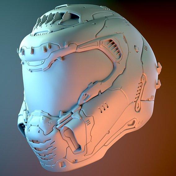 Doom Slayer's Helmet - Doom Eternal