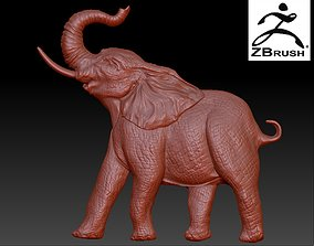 nature elephant relief 3D printable model