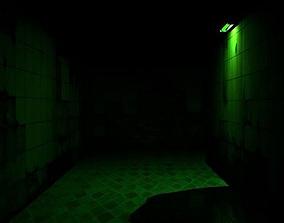 Dark Green Hallway 3D print model