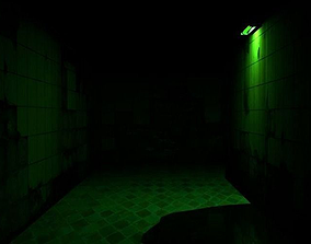 Dark Green Hallway 3D print model